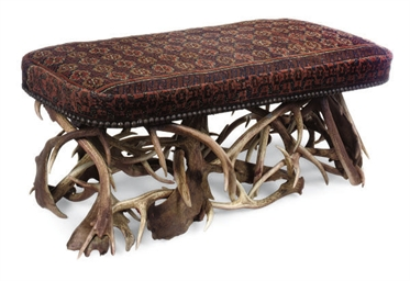 A VICTORIAN ANTLER STOOL