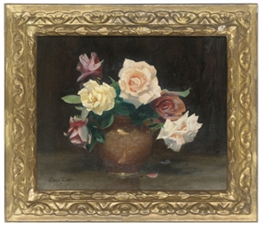 Wiltshire roses in a vase