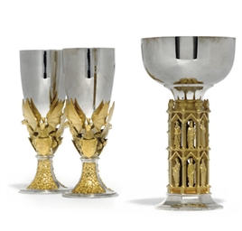 A PAIR OF MODERN PARCEL-GILT S