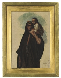 Copt woman and child