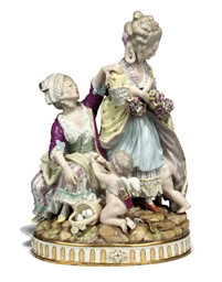 A MEISSEN GROUP 'BROKEN EGGS'