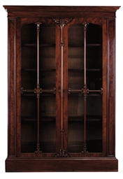 A WILLIAM IV MAHOGANY BOOKCASE