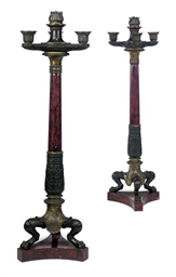 A PAIR OF CHARLES X BRONZE, GI
