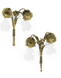 A PAIR OF FRENCH ART-NOUVEAU G