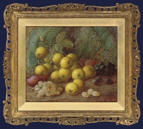 Greengages, plums and grapes o