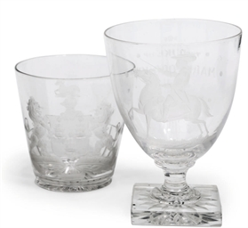 AN ENGRAVED RUMMER AND AN ARMO