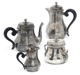 A FOUR-PIECE FRENCH SILVER TEA