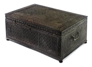 AN INDIAN EBONY WRITING BOX