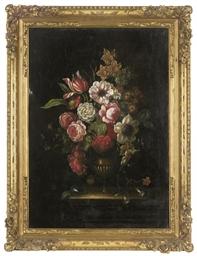 Roses, parrot tulips, chrysant
