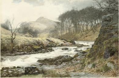 A romantic landscape:  A river