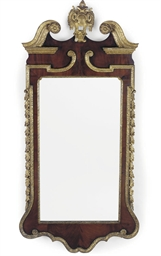 A MAHOGANY AND PARCEL-GILT MIR