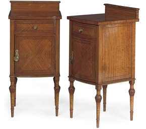 A PAIR OF SATINWOOD BEDSIDE CA