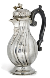 A GERMAN SILVER COFFEE POT