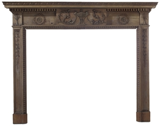 A REGENCY PINE CHIMNEYPIECE