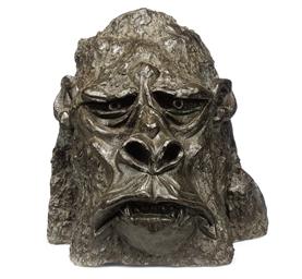 A BRONZE HEAD OF KING KONG