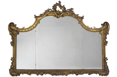 AN ITALAIN GILTWOOD AND GESSO