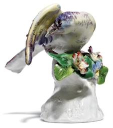 A BOW PORCELAIN MODEL OF A BUN