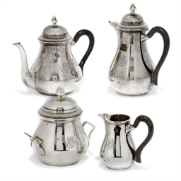 A FRENCH SILVER FOUR-PIECE TEA