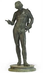 A NEAPOLITAN BRONZE FIGURE OF