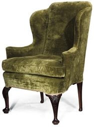 A GEORGE II UPHOLSTERED WING A