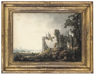 A ruined castle in an extensiv