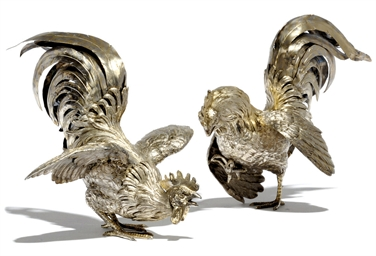 A PAIR OF GERMAN SILVER-GILT C