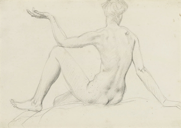 Study of a seated nude from be