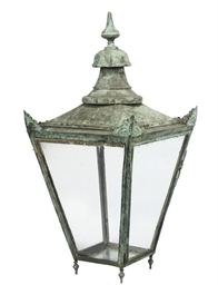 A LARGE COPPER LANTERN