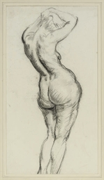 Study of a female nude, observ