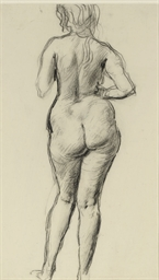 Study of a female nude from be
