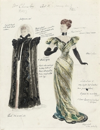 Costume design for Mrs. Chevel