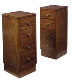 A PAIR OF SCOTTISH MAHOGANY BE
