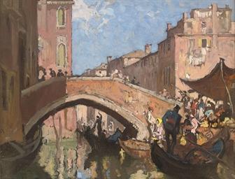 A market beside a Venetian can