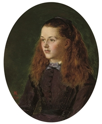 Portrait of Fanny Frith, young