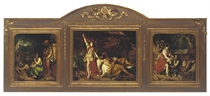 Judith and Holofernes, triptych