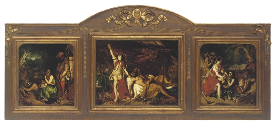 Judith and Holofernes, triptyc