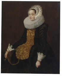 Portrait of a lady wearing a b