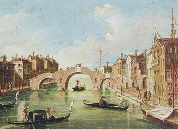Venice canal scene; and two co