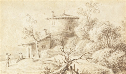 A landscape with two figures i