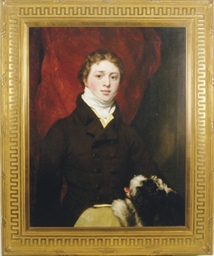 Portrait of a boy with his dog