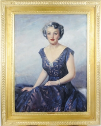 Portrait of a lady in a purple