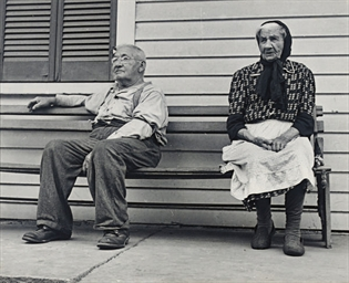 Couple on a Bench, 1934