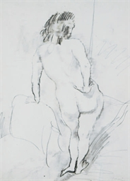 Standing nude, seen from behin