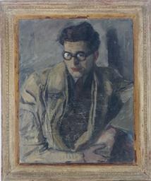 Portrait of a man, wearing gla