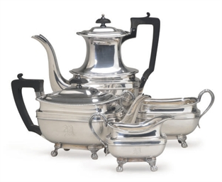 AN ENGLISH SILVER-PLATED FOUR