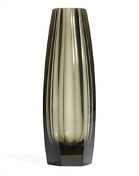 AN AUSTRIAN GLASS VASE,