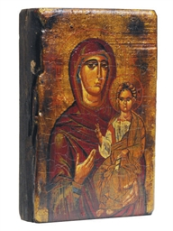 A RUSSIAN WOOD PAINTED WOOD IC