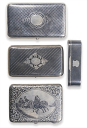 A GROUP OF THREE RUSSIAN SILVE