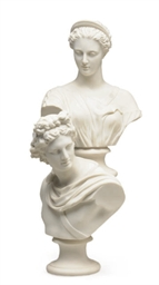 A PAIR OF ENGLISH PARIAN PORCE