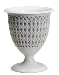 A GERMAN PORCELAIN RETICULATED